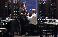 Heather Jacobs' boyfriend, Dan Moen, takes a knee and proposes to her Sunday evening, December 5, during a night out at Django restaurant in Des Moines.  After losing her husband, Eric, in a 2006 plane crash, Heather and Dan decided to begin dating in June after meeting in April.