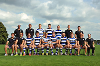 The Bath Rugby academy pose for a team photo. Bath Rugby Media Day on August 27, 2013 at Farleigh House in Bath, England. Photo by: Patrick Khachfe/Onside Images