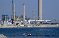 - chemical industrial area of Portoscuso-Portovesme (Sardinia)..- area industriale chimica di Portoscuso-Portovesme (Sardegna)