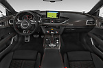 Stock photo of straight dashboard view of 2015 Audi RS7  quattro tiptronic Prestige 5 Door Hatchback