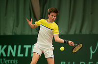 The Hague, The Netherlands, March 17, 2017,  De Rhijenhof, NOJK 14/18 years, Daan van Dijk (NED)<br /> Photo: Tennisimages/Henk Koster