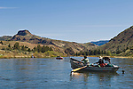 Floating and fishing the John Day River, Oregon.