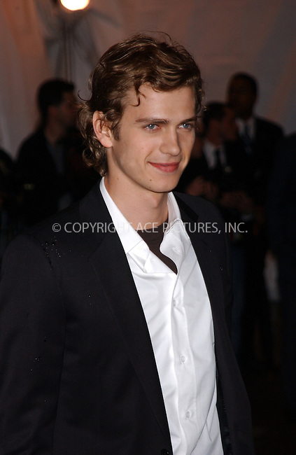 WWW.ACEPIXS.COM . . . . . ....NEW YORK, MAY 2, 2005....Hayden Christensen arrives at The Costume Institute Gala Celebrating Chanel at the Metropolitan Museum of Art.....Please byline: KRISTIN CALLAHAN - ACE PICTURES.. . . . . . ..Ace Pictures, Inc:  ..Craig Ashby (212) 243-8787..e-mail: picturedesk@acepixs.com..web: http://www.acepixs.com