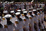 Chilean Navy Crew from the Esmeralda (BE-43), on Easter Island, Chile
