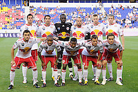 New York Red Bulls starting eleven. The New York Red Bulls defeated the Houston Dynamo 2-1 during a Major League Soccer (MLS) match at Red Bull Arena in Harrison, NJ, on June 2, 2010.