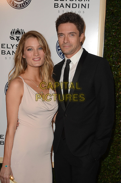 LOS ANGELES, CA - JANUARY 7: Ashley Hinshaw, Topher Grace at the The Art Of Elysium Tenth Annual Celebration 'Heaven' Charity Gala at Red Studios in Los Angeles, California on January 7, 2017. <br /> CAP/MPI/DE<br /> &copy;DE/MPI/Capital Pictures