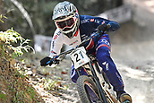 10th September 2017, Smithfield Forest, Cairns, Australia; UCI Mountain Bike World Championships; Adam Brayton (GBR) during the elite mens downhill race;