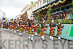 The Millstreet Pie Band passes the Main Stand the Killarney St Patricks Day parade on Sunday ..