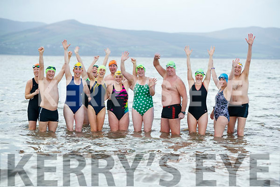 Swimmers who completed the 12 swims of Christmas, pictured on Friday last were Noel Ryan, Mags O'Sullivan, Kevin Williams, Mary Fitzsimons and Bridget Moore, Niamh Murphy, Elaine Burrows Dillane, Bob Fitzsimons, Rosie Foley, Rose Collins, Jerry Gallagher and Helena Creagh.