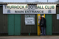 The turnstiles during Romford vs Norwich United, Bostik League Division 1 North Football at Ship Lane on 11th April 2018