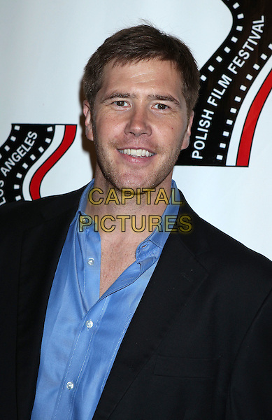 Jake Head<br /> 13th annual Polish film festival at American Cinematheque's Egyptian Theatre, Hollywood, California, USA.<br /> 9th October 2012<br /> headshot portrait blue shirt black suit jacket  <br /> CAP/ADM/RE<br /> &copy;Russ Elliot/AdMedia/Capital Pictures