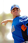 12 March 2007: New York Mets third baseman David Wright warms up prior to facing the Washington Nationals at Space Coast Stadium in Viera, Florida. <br /> <br /> Mandatory Photo Credit: Ed Wolfstein Photo