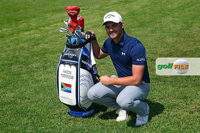 Haydn Porteous of South Africa poses for a portrait during Round 1 of the Nordea Masters, Bro Hof Slottt Golf Club, Stockholm, Sweden. 02/06/2016<br /> Picture: Richard Martin-Roberts / Golffile<br /> <br /> All photos usage must carry mandatory copyright credit (&copy; Golffile | Richard Martin- Roberts)