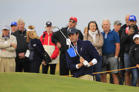 Stewart Hagestad (USA) on the 5th during the Foursomes at the Walker Cup, Royal Liverpool Golf CLub, Hoylake, Cheshire, England. 07/09/2019.<br /> Picture Thos Caffrey / Golffile.ie<br /> <br /> All photo usage must carry mandatory copyright credit (© Golffile | Thos Caffrey)