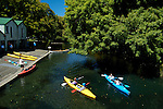 Kayaking down the Avon River, Christchurch, New Zealand