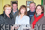 BETS: Placing their bets at the Kingdom Greyhound Stadium, Tralee on Friday night were l-r: Marian Casey (Causeway), Liam Fitzgerald (Tralee), Orla Casey (Causeway), Gus Quilter (Lixnaw) and Angela O'Connor (Finuge).   Copyright Kerry's Eye 2008