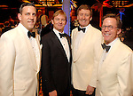 Matthew Van Biesen, Andrew McFarland, Tom Glanville and Erik Littlejohn at the Houston Symphony Ball at the Hilton Americas Houston Friday Feb. 27, 2009. (Dave Rossman/For the Chronicle)