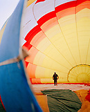 SRI LANKA, Asia, rear view of a man walking in a hot air balloon