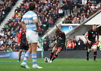 England's George Ford takes a penalty kick<br /> <br /> Photographer Rachel Holborn/CameraSport<br /> <br /> International Rugby Union Friendly - Old Mutual Wealth Series Autumn Internationals 2017 - England v Argentina - Saturday 11th November 2017 - Twickenham Stadium - London<br /> <br /> World Copyright &copy; 2017 CameraSport. All rights reserved. 43 Linden Ave. Countesthorpe. Leicester. England. LE8 5PG - Tel: +44 (0) 116 277 4147 - admin@camerasport.com - www.camerasport.com