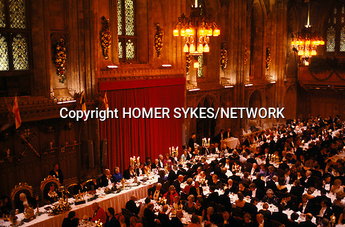 Guild Hall banquet City of London 1990s.