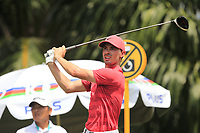 Paul Peterson (USA) in action on the 5th during Round 1 of the Maybank Championship at the Saujana Golf and Country Club in Kuala Lumpur on Thursday 1st February 2018.<br /> Picture:  Thos Caffrey / www.golffile.ie<br /> <br /> All photo usage must carry mandatory copyright credit (&copy; Golffile | Thos Caffrey)