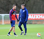 England's Gary Neville watches Danny Drinkwater during training at the Tottenham Hotspur Training Centre.  Photo credit should read: David Klein/Sportimage