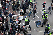 26/03/2011. Anti-Cuts Demonstration in Central London. Police and protesters clash in Piccadilly.