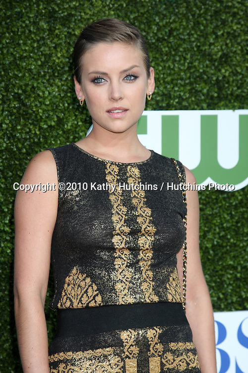 LOS ANGELES - JUL 28:  Jessica Stroup arrives at the 2010 CBS, The CW, Showtime Summer Press Tour Party  at The Tent Adjacent to Beverly Hilton Hotel on July28, 2010 in Beverly Hills, CA ...
