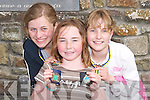 GOLD: Gold, Silver and Bronze medal winners at the Ballyheigue Community Games on Sunday were, l-r: Kathleen Harty, Elle Supple and Hannah O'Sullivan..