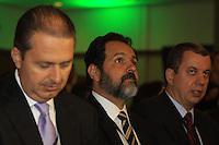 RIO DE JANEIRO, RJ, 30 DE MAIO 2012 - SORTEIO COPA DAS CONFEDERACOES - O governador de Brasilia Agnelo Queiroz durante sorteio da Copa das Confederações, torneio que antecede a Copa do Mundo e que será disputado entre 15 e 30 de junho de 2013. No Hotel Sheraton, na Barra da Tijuca nesta quarta-feira, 30. (FOTO: GUTO MAIA / BRAZIL PHOTO PRESS).