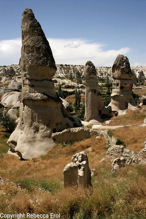 Fairy chimneys and the landscape of Cappadocia, Turkey