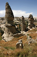 Fairy chimneys and the landscape of Cappadocia, Turkey
