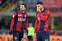 Mattia Destro of Bologna and Roberto Soriano of Bologna react during the Italy Cup 2018/2019 football match between Bologna and Juventus at stadio Renato Dall'Ara, Bologna, January 12, 2019 <br />  Foto Andrea Staccioli / Insidefoto