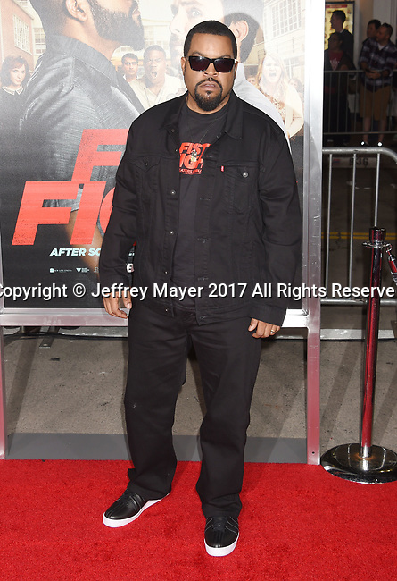 HOLLYWOOD, CA - FEBRUARY 13: Actor-rapper Ice Cube attends the premiere of Warner Bros. Pictures' 'Fist Fight' at the Regency Village Theatre on February 13, 2017 in Westwood, California.