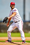 22 February 2019: Washington Nationals pitcher Austen Williams on the mound during a Spring Training workout at the Ballpark of the Palm Beaches in West Palm Beach, Florida. Mandatory Credit: Ed Wolfstein Photo *** RAW (NEF) Image File Available ***