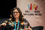 25 June, 2018, Kuala Lumpur, Malaysia : Laura Vidal (Good Shepherd) at the panel discussion on Value and Risk of Criminalising Child Marriage on the opening day at the Girls Not Brides Global Meeting 2018 at the Kuala Lumpur Convention Centre. Picture by Graham Crouch/Girls Not Brides