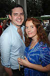 David Hutchinson, Alexandra Balahoutis==<br /> LAXART 5th Annual Garden Party Presented by Tory Burch==<br /> Private Residence, Beverly Hills, CA==<br /> August 3, 2014==<br /> &copy;LAXART==<br /> Photo: DAVID CROTTY/Laxart.com==