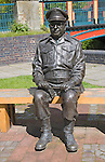 Captain Mainwaring statue from Dad's Army TV series, Thetford, Norfolk, England