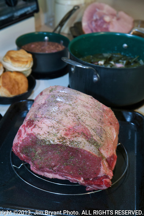 Uncooked Prime Rib. ©2013. Jim Bryant Photo. ALL RIGHTS RESERVED.