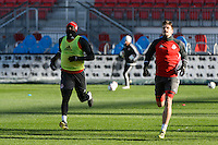 Toronto, ON, Canada - Friday Dec. 09, 2016: Jozy Altidore during training prior to MLS Cup at BMO Field.