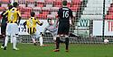 East Fife's Liam Buchanan scores their first goal from the penalty spot.
