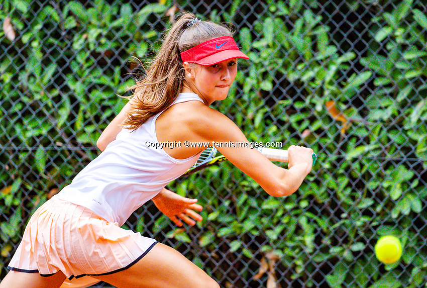 Hilversum, Netherlands, August 8, 2018, National Junior Championships, NJK, Charlotte Haas (NED)<br /> Photo: Tennisimages/Henk Koster