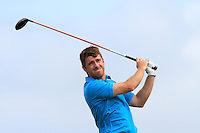 Darragh Coughlan (Portmarnock) on the 6th tee during the Quarter Finals of The South of Ireland in Lahinch Golf Club on Tuesday 29th July 2014.<br /> Picture:  Thos Caffrey / www.golffile.ie