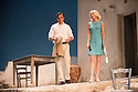 London, UK. 31.05.2016. SUNSET AT THE VILLA THALIA, by Alexei Kaye Campbell, opens at the Dorfman, at the National Theatre. Directed by Simon Godwin. Picture shows: Ben Miles (Harvey), Elizabeth McGovern (June). Photograph © Jane Hobson.