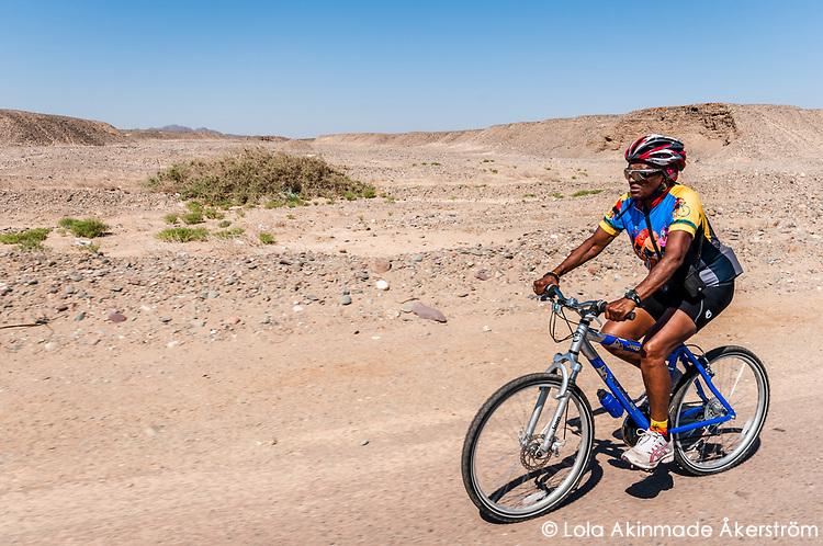 70+ year old Alpha biking through the Eastern Desert