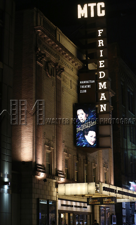 Theatre Marquee for the Broadway Opening Night performance for 'The Little Foxes' starring Cynthia Nixon and Laura Linney at Samuel J. Friedman Theatre on April 19, 2017 in New York City.