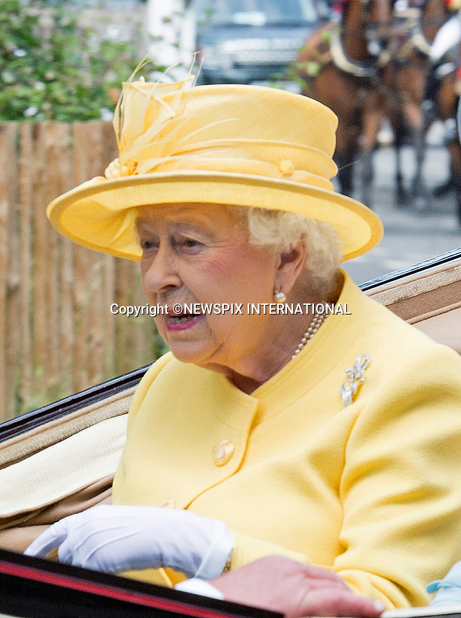 21.06.2017; Ascot, UK: QUEEN ELIZABETH<br /> in the royal procession at Royal Ascot.<br /> Mandatory Credit Photo: &copy;Dias/NEWSPIX INTERNATIONAL<br /> <br /> IMMEDIATE CONFIRMATION OF USAGE REQUIRED:<br /> Newspix International, 31 Chinnery Hill, Bishop's Stortford, ENGLAND CM23 3PS<br /> Tel:+441279 324672  ; Fax: +441279656877<br /> Mobile:  07775681153<br /> e-mail: info@newspixinternational.co.uk<br /> Usage Implies Acceptance of OUr Terms &amp; Conditions<br /> Please refer to usage terms. All Fees Payable To Newspix International