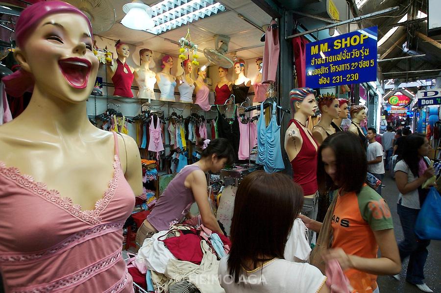 At the Chatuchak Weekend-Market.  Sexy underwear.