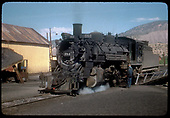 D&amp;RGW #484 K-36 on turntable in Durango.<br /> D&amp;RGW  Durango, CO