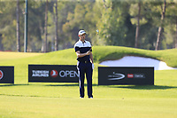 Justin Rose (ENG) prepares to play his 2nd shot on the 16th hole during Sunday's Final Round of the 2018 Turkish Airlines Open hosted by Regnum Carya Golf &amp; Spa Resort, Antalya, Turkey. 4th November 2018.<br /> Picture: Eoin Clarke | Golffile<br /> <br /> <br /> All photos usage must carry mandatory copyright credit (&copy; Golffile | Eoin Clarke)